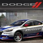 Rendering of 2013 Dodge Dart rally car that will be driven by Tr