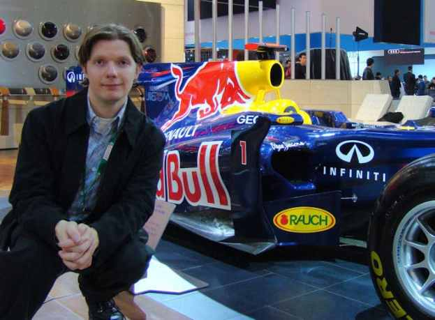 2012 Canadian International Auto Show 2 Chris Nagy with Red Bull