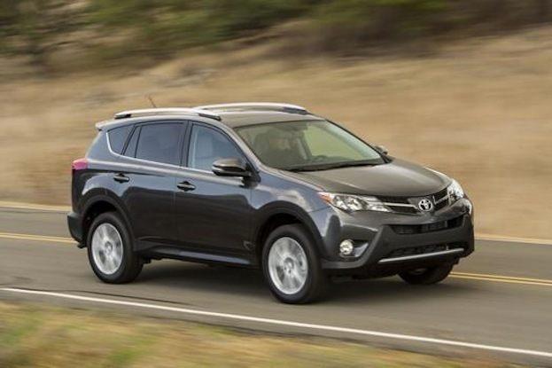 Toyota RAV4 driving