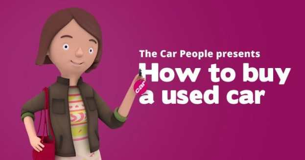 How to buy a used car infographic header