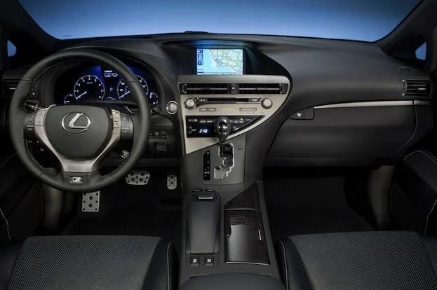 Lexus RX350 F-Sport cabin