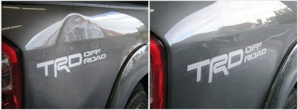 Toyota truck paintless dent repair