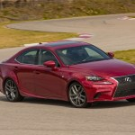 2014 Lexus IS350 F-Sport hard corner