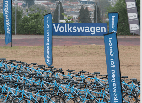 Volkswagen, together with Qhubeka, have committed  to distributing a total of 1,100 bicycles to South African youth in 2017 (Photos: QuickPic)