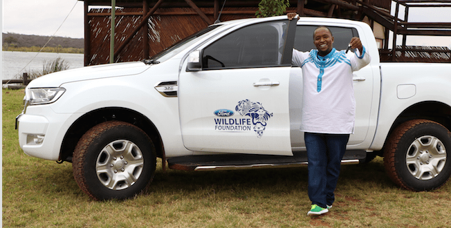 Gabriel Sithole with his Ford Ranger (Photo: QuickPic)
