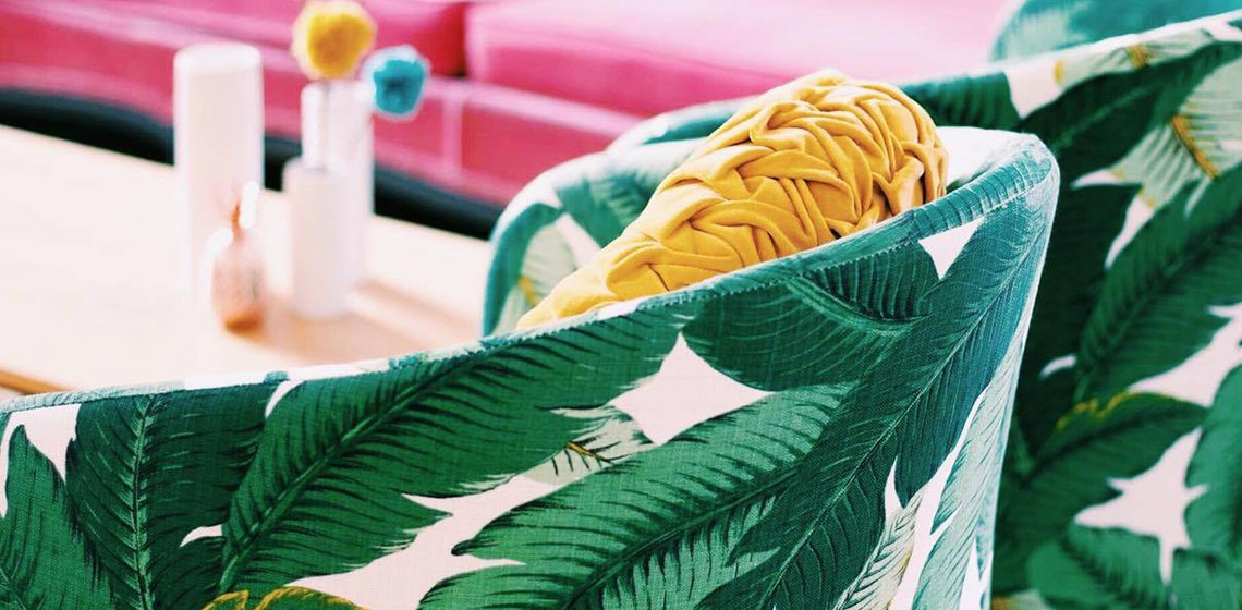 Palm Fabric Header