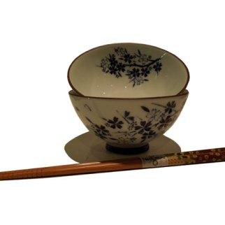 Bol japonais bleu blanc