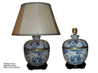 lampes chinoises bleu blanc aux merveilles d 39 asie. Black Bedroom Furniture Sets. Home Design Ideas