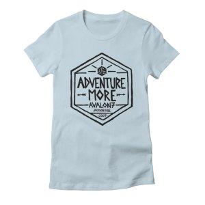 avalon7 adventure more women's tshirt blue
