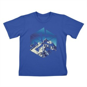AVALON7 inspiracon majestic tetons KIDS blue tshirt