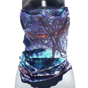 Blue Spirit Sacred Geometry Mesh Faceshield from avalon7 snowboarding