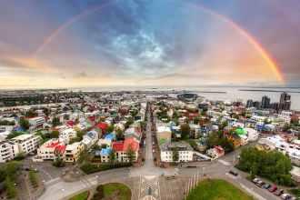 bigstock-Reykjavik-Cityspace-With-Rainb-69825172resize70060