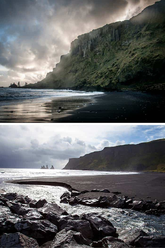 Black sand beach at Vik Iceland! Don't miss the top 10 things to do in Iceland! Click through to read the whole post!