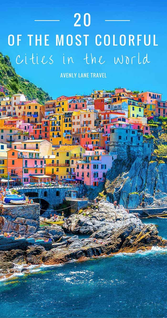 Click through to see some of the most colorful cities in the world! This post does not contain industrial soot stained cities; instead it showcases some of the most vibrant looking cities in the world.