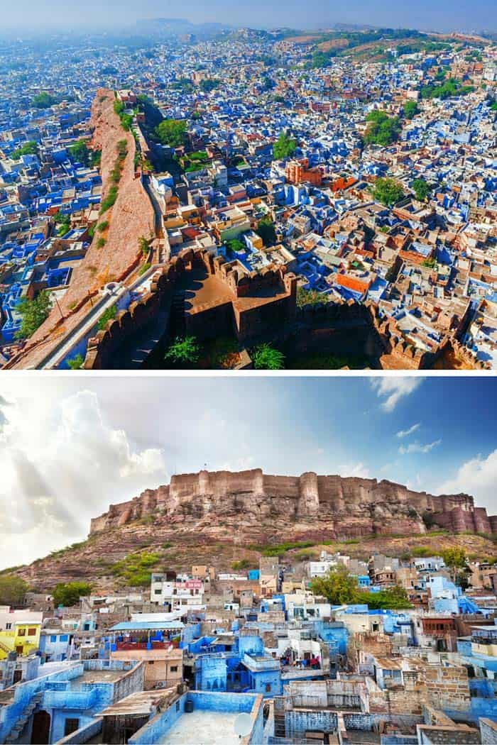 Jodhpur, Rajasthan, India! Click through to see some of the most colorful cities in the world! This post does not contain industrial soot stained cities; instead it showcases some of the most vibrant looking cities in the world.