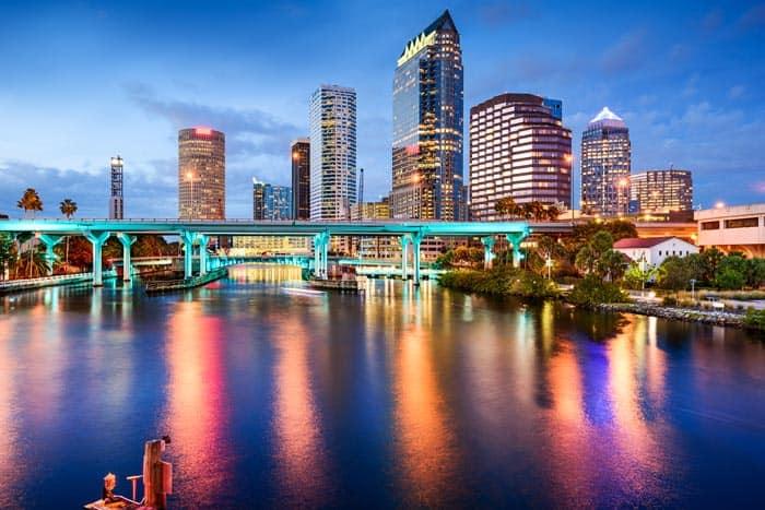 Tampa skyline.