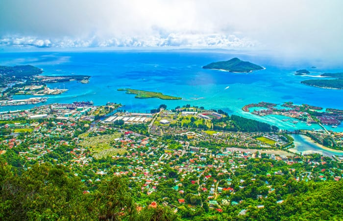 View of Victoria, Seychelles.
