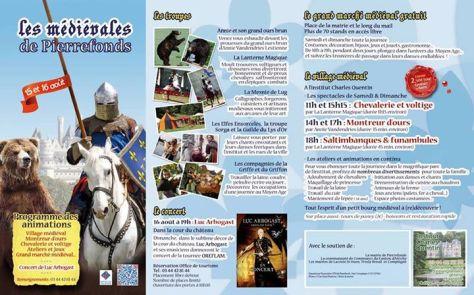 Programme Médiévales 2015 Pierrefonds