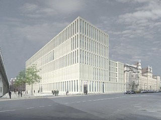 Jacob und Wilhelm Grimm-Zentrum, Ansicht Südost (Grafik: Max Dudler)