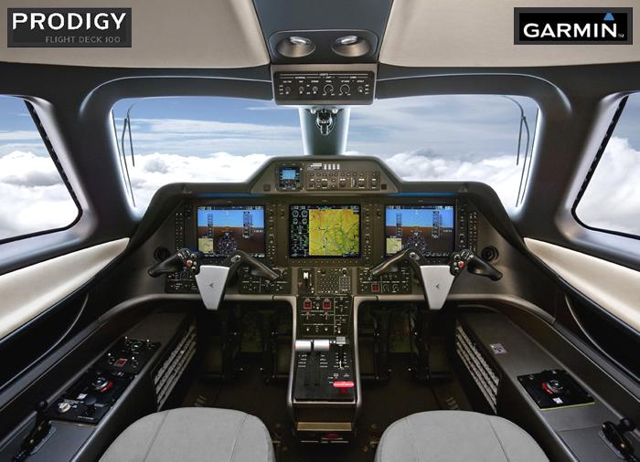 Painel completo e funcional, que garante a operação da aeronave sem a necessidade de um co-piloto. Imagem: Embraer.
