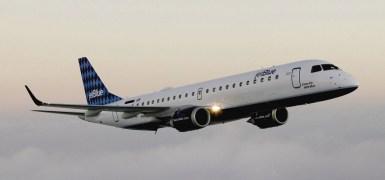 Embraer ERJ 190 da JetBlue. Origem da imagem desconhecida.
