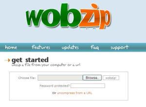 wobzip - Unzip files