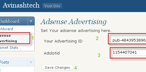 set adsense revenue sharing