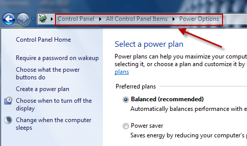 How to disable Auto Sleep mode in Windows 7