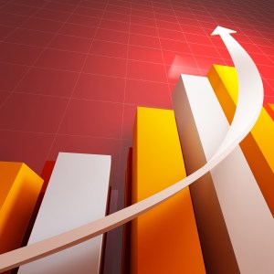 3d stat with growing arrow business background