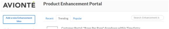 Product Enhancement Portal