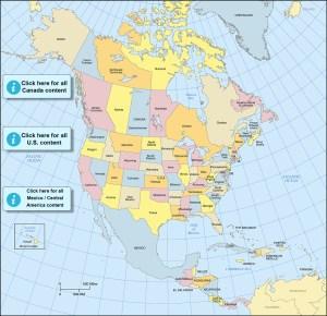 Map - North America