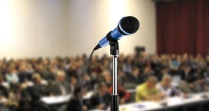 Conference podium microphone featured image