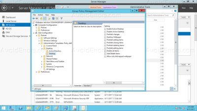 Restrict User Changing Wallpaper via Group Policy Server 2008/2012 - AvoidErrors