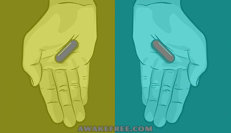 Optical Illusions Matrix Blue Pill Red Pill