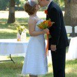 Steal lots of kisses on your wedding day! // A Well Crafted Party