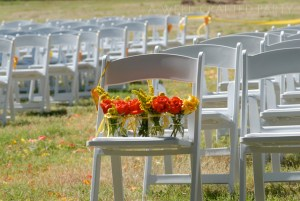 Orange and Yellow Summer Wedding Flowers