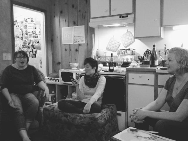 I was REALLY into whatever story I was sharing. Photo via @motormouthmacey 's instagram
