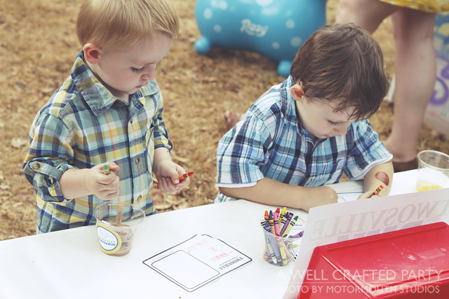 town themed party activities coloring Identifications