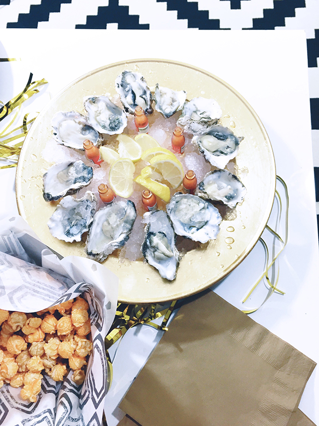 Oysters with Tabasco and Lemon Wedges // A Well Crafted Party