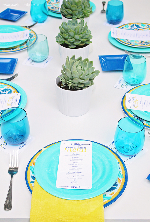 Italian themed dinner menu and free printables — A Well Crafted Party
