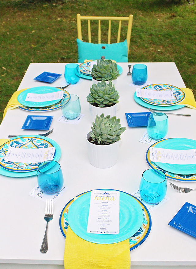 After DIY Outdoor Table - A Well Crafted Party