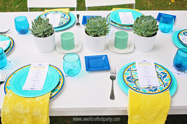 Dip Dyed Napkins via A Well Crafted Party