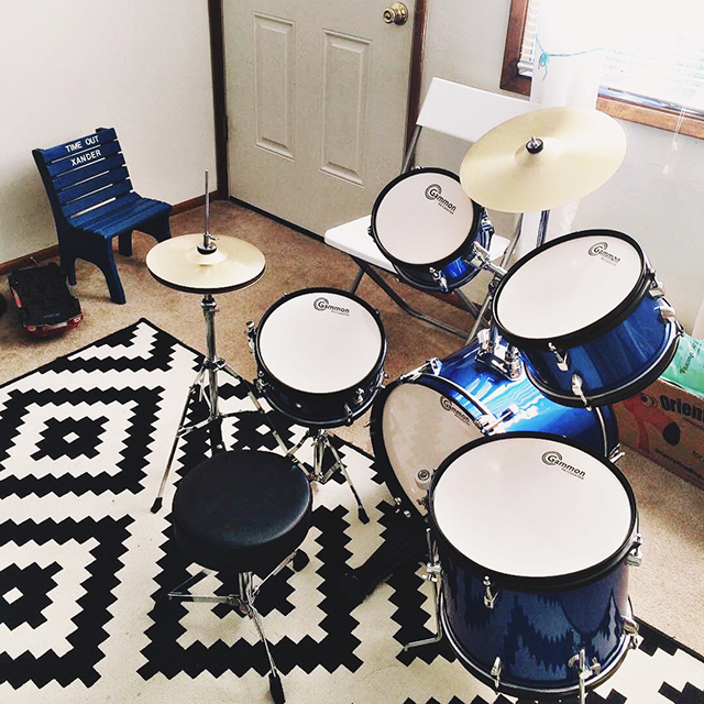 Drums as Fourth Birthday Present