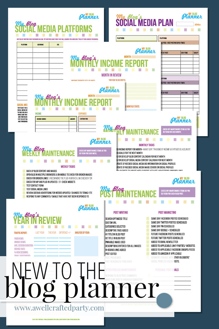 Free Printable Blog Planner 2016 Edition