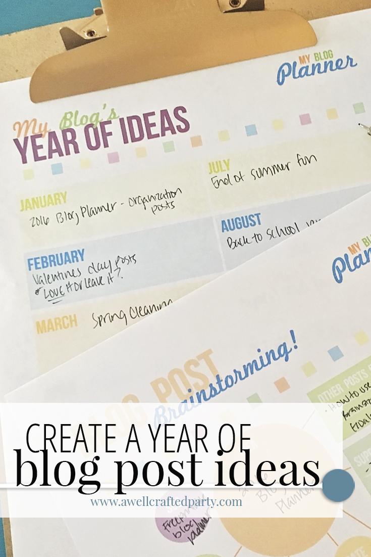 Create a year of blog post ideas in one easy session