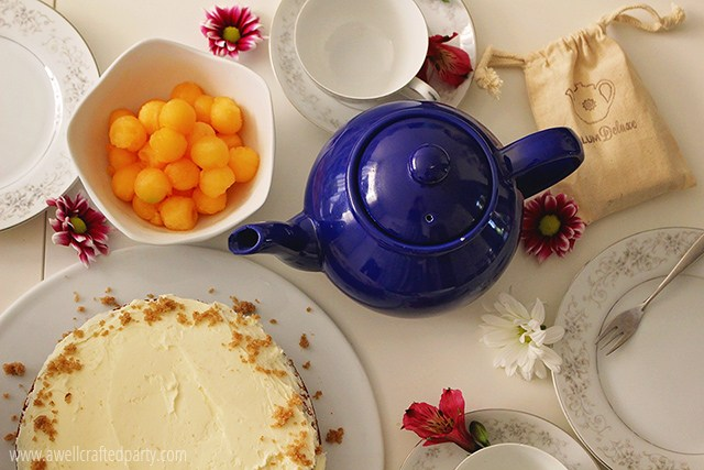 Sprinkle your tea table with flower buds - A Well Crafted Party