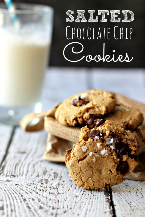 Salted Chocolate Chip Cookies | Healthy Cookies