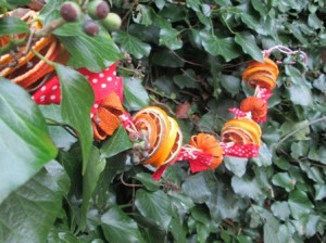 fruit garland and decorations