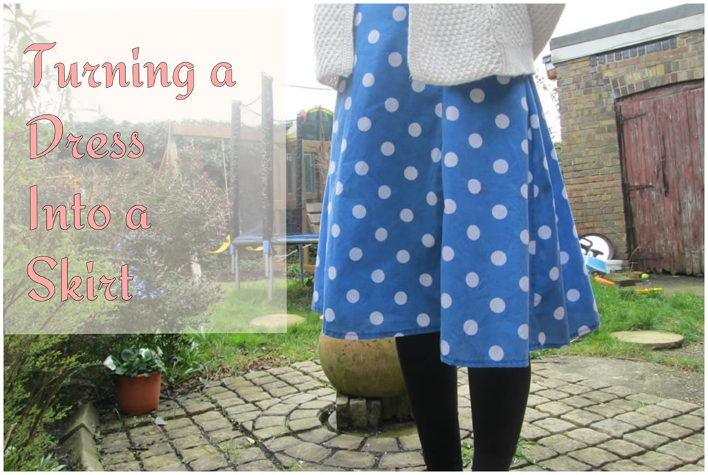turning a dress into a skirt