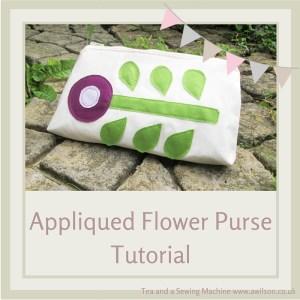 Appliqued Flower Purse